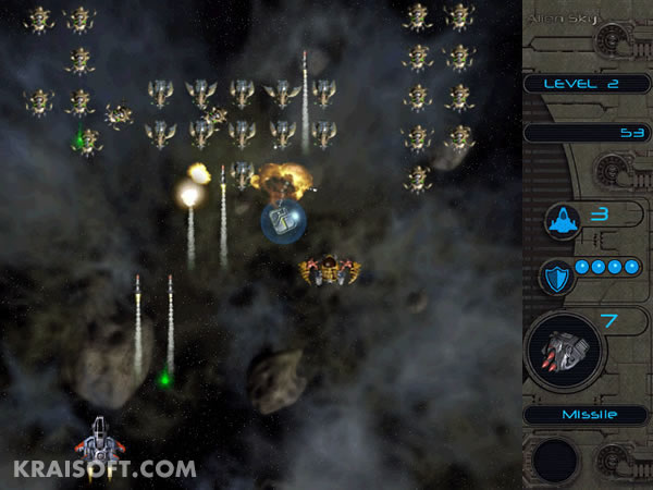 Alien Sky - Defeat alien forces in this space-shooter.