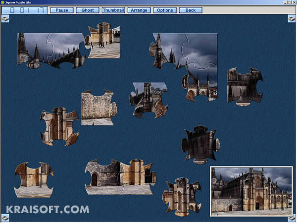 Jigsaw Puzzle Lite - Freeware jigsaw puzzle with lots of puzzles.